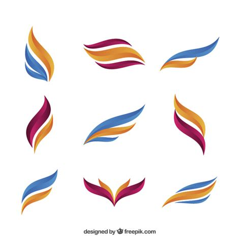 colored shapes colored abstract shapes vector free