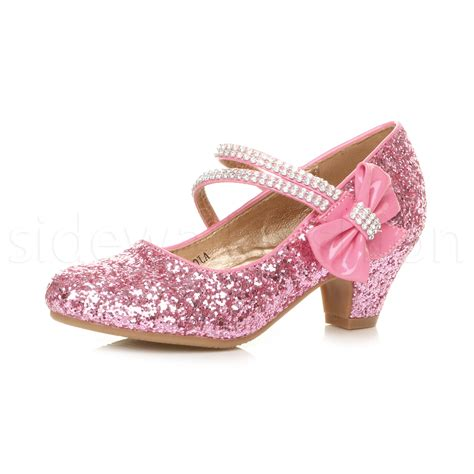 children high heels childrens low heel wedding