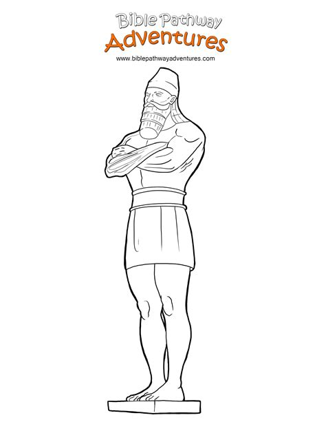 coloring pages book of daniel free bible coloring page king nebuchadnezzar s statue