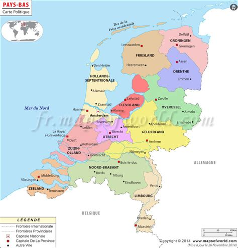 netherlands capital map pays bas carte carte de pays bas