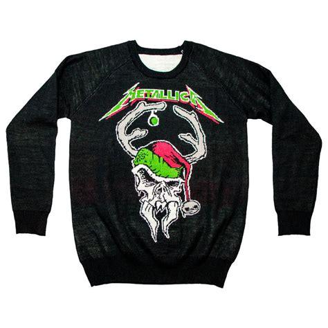 metallica xmas sweater scary reindeer x mas holiday sweater metallica
