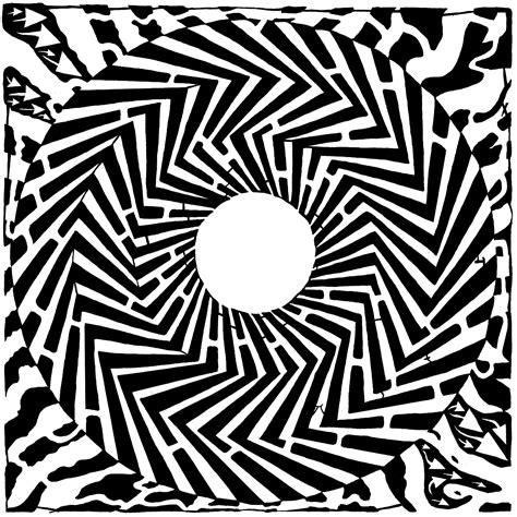 op art pattern xword psychedelic maze optical illusion yonatan frimer