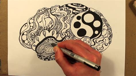 brain pattern drawing drawing a zentangle brain youtube