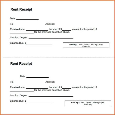 printable rent receipt india printable receipts for rent lost and found log template