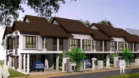 home design for terrace terrace house design exle in malaysia youtube