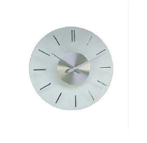 glass kitchen wall clocks acctim clear glass wall clock visaya design 30cm glass