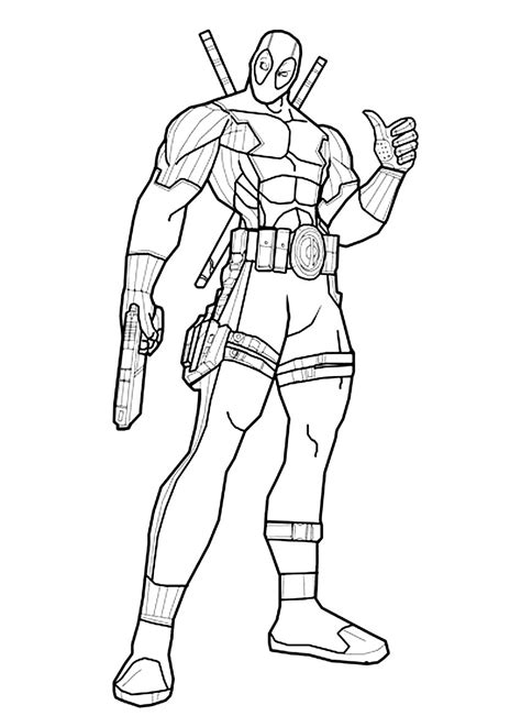 Coloring Page Deadpool by Free Coloring Pages Of Deadpool Und Deathstroke