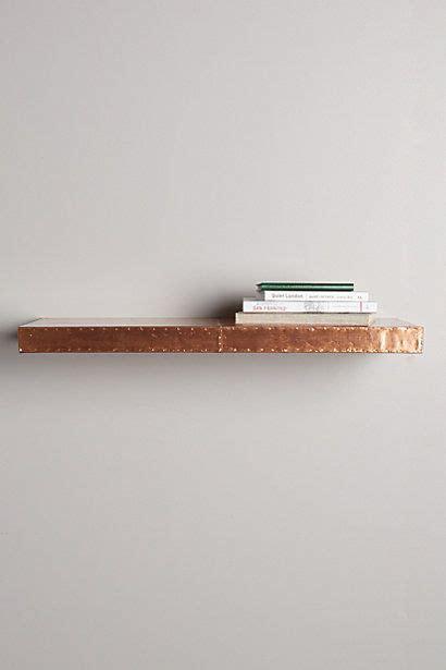 burnished metal floating shelf a r o u n d t h e o