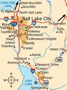 map salt lake city surrounding area maps of salt lake city ski salt lake s winter vacation