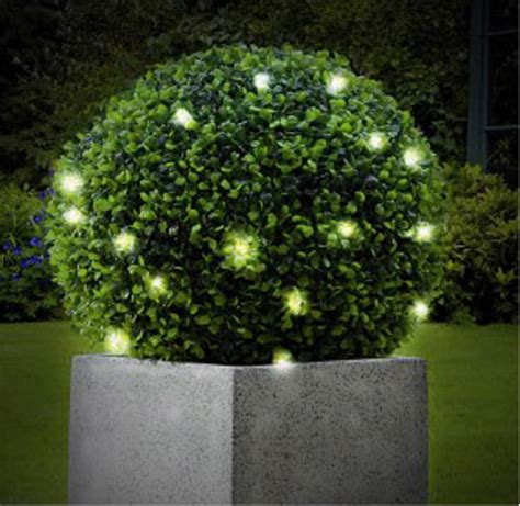 artificial topiary ball with led lights by garden
