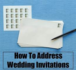 how to address wedding invitations diy home things