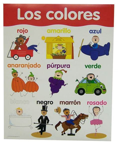 the colors of the rainbow in spanish 187 learning spanish spanish basic skills chart colors 020680 details