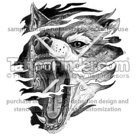 snarling wolf tattoo designs tattoofinder anger wolf design by reasoner