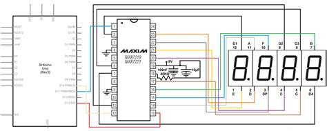 led resistor calculator 7 segment how to a 4 digit 7 segment led display with a max7219 chip