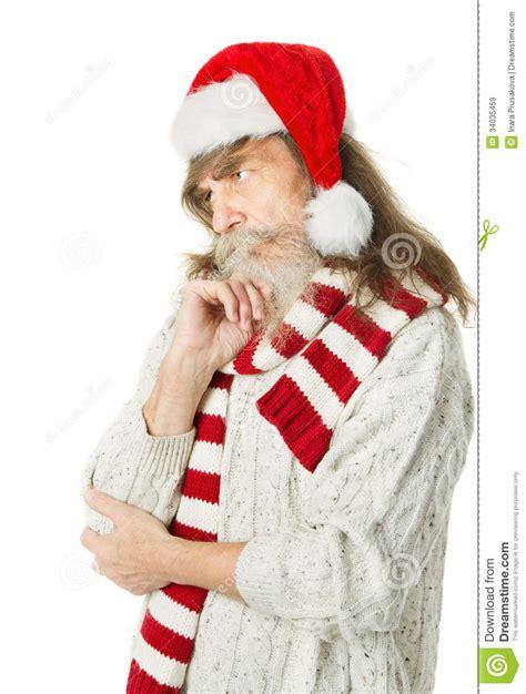 imagenes de santa claus viejo viejo hombre con la barba en sombrero rojo santa claus de