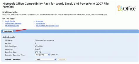 Compatibility Pack For The 2007 Office System by Open Office 2007 Files Open Docx Documents Open Xlsx