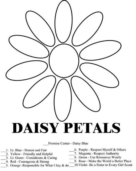 Daisy Girl Scout Law Promise Coloring Pages Free Scout Promise Coloring Pages Free
