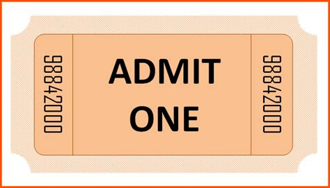 admission ticket template word 1000 ideas about ticket