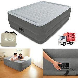 queen air mattress  raised full size aerobed intex