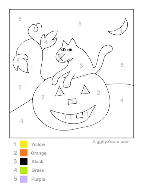 halloween color by number printable national