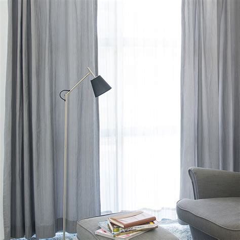 Grey Curtains For Living Room Simple Japanese Style Grey Color Living Room Curtain