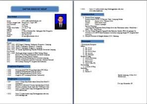 Curriculum Vitae Format Doc File Bahasa Indonesia Contoh Resume Yang Lengkap Car Interior Design