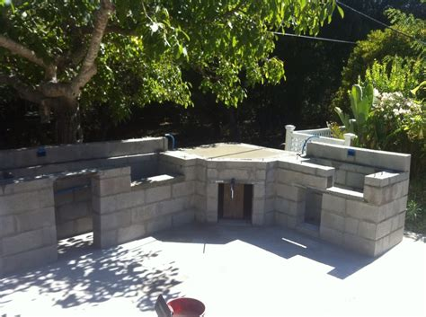 advice needed for outdoor kitchen build with concrete
