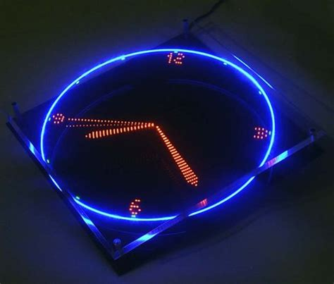 coolest latest gadgets spatially telling time modern latest cool gadgets blog spinning led clock uses image
