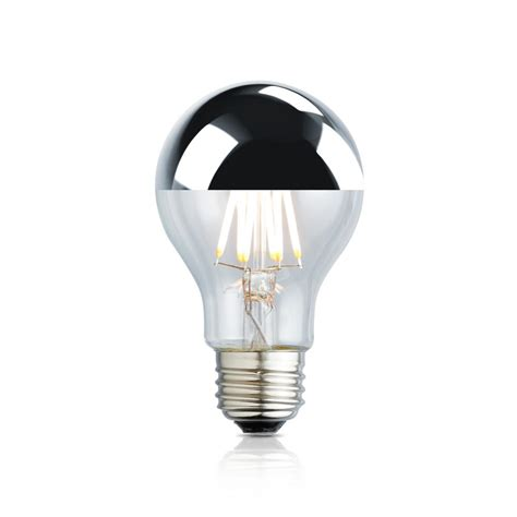 white tipped light bulb archipelago 40w equivalent white a19 silver tipped