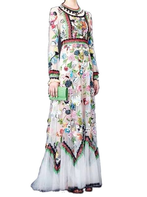 Sleeve Embroidery Dress white sleeve floral embroidered dress