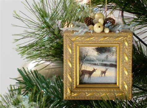 christmas tree ornament picture frame h by