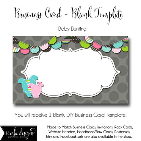 pixlr business card template dyi blank business card template baby bunting made to