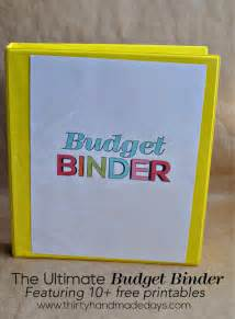 Budget Cover Page Template Printable Budget Binder