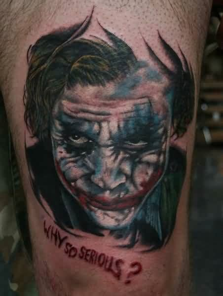 joker face tattoo designs joker tattoo marvelous why so serious heath ledger