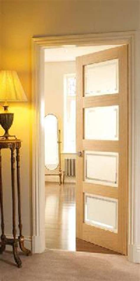 4 panel oak shaker glazed door