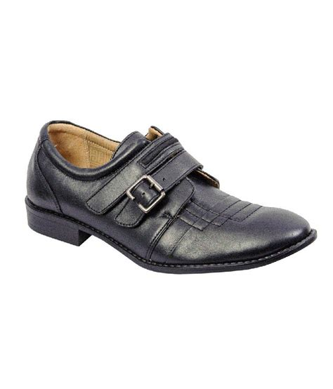khadim s lazard black leather slip on shoes price in india