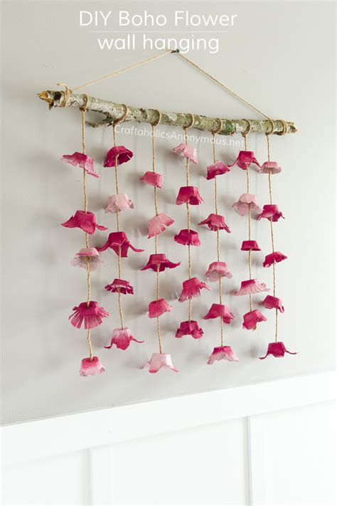How To Make Wall Hangings With Paper - craftaholics anonymous 174 boho flower wall hanging made