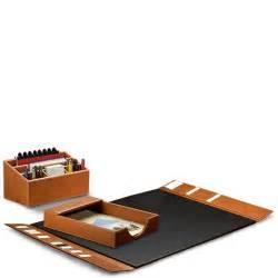 morgan desk set three pieces leather desk set desk accessories desk organizers levenger