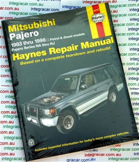 auto manual repair 1997 mitsubishi pajero engine control mitsubishi pajero na nj repair manual 1983 1997 workshop car manuals repair books