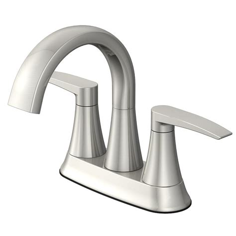 brushed nickel bathtub faucets jacuzzi lyndsay brushed nickel 2 handle 4 in centerset
