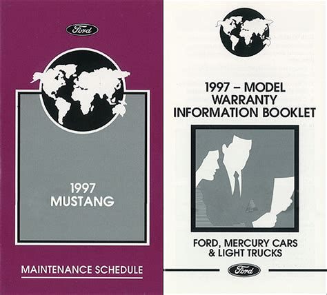 online car repair manuals free 1997 ford mustang transmission control 1997 ford mustang owners manual new with maintenance schedule and warranty gt ebay
