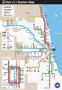 Chicago L Blue Line Map by Chicago Cta Parking