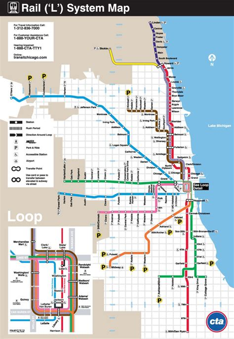orange line map chicago sp chicago cta monthly parking