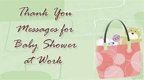Thank You For Baby Shower At Work thank you messages for baby shower favors