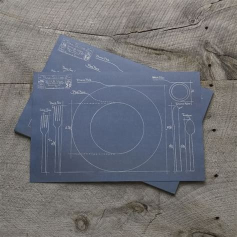 How To Make A Paper Placemat - kitchen paper placemats blueprint west elm