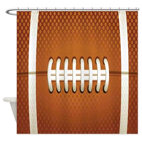 football shower curtain football shower curtain by decorativedesigns