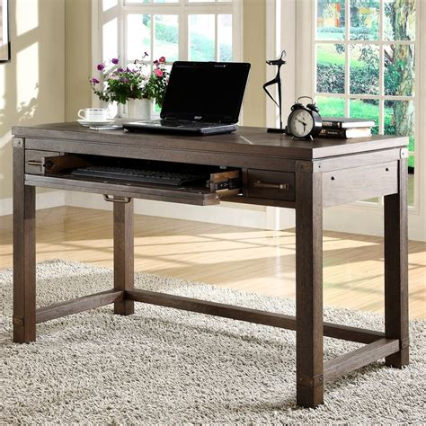 computer desk with wide keyboard tray trent design
