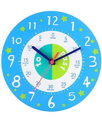 printable toy clock elc teaching clock blue educational toys mothercare