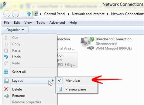windows 7 layout menu bar networking questions how to bridge connections in windows