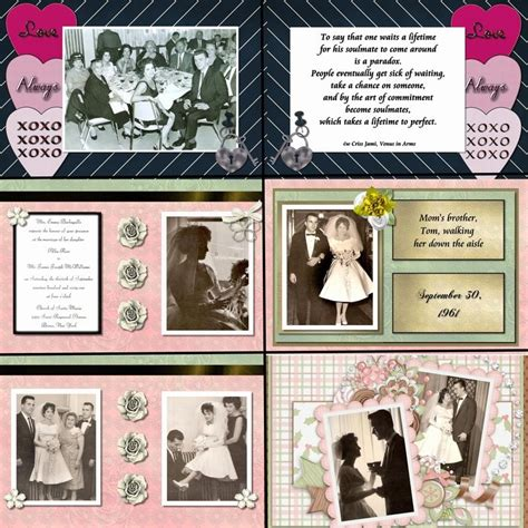 tutorial scrapbook anniversary 50th anniversary scrapbook for my parents courtship and